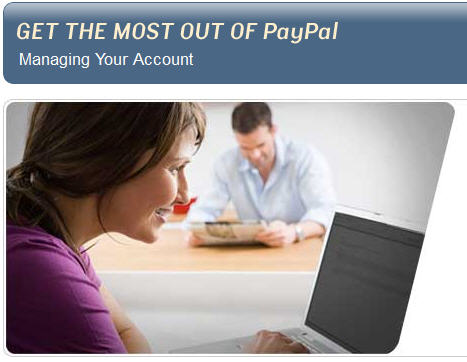 Managing your paypal account