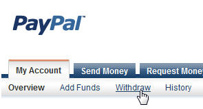 Transfer funds from paypal to your bank account