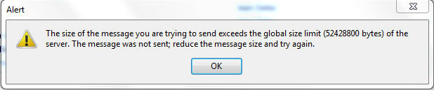 warning about file being too large to send