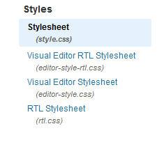Edit CSS stylesheet in WordPress