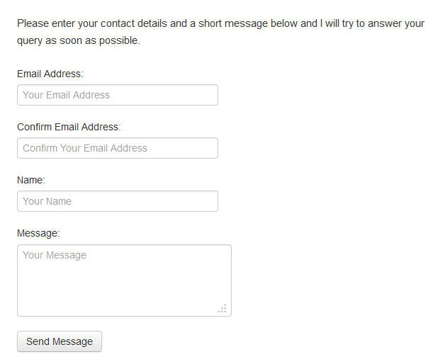 simple and easy contact form