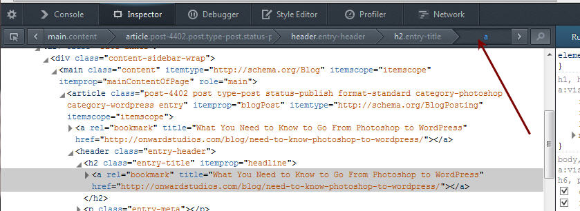 Use Inspect Element to Update CSS in WordPress
