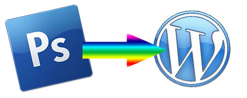 take photoshop colors into wordpress