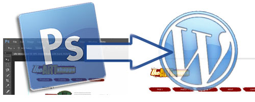 Photshop menu design in WordPress