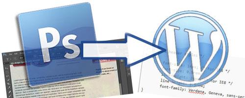 photshop text in wordpress