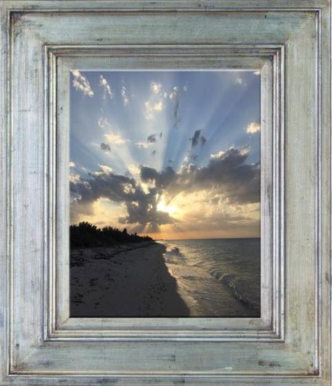 Ezimba, add art frame effect.